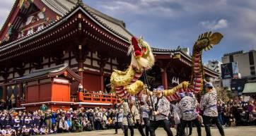 Asakusa Golden Dragon Dance 5
