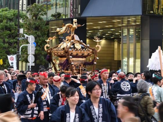 Mikoshi procession in the Kanda Festival