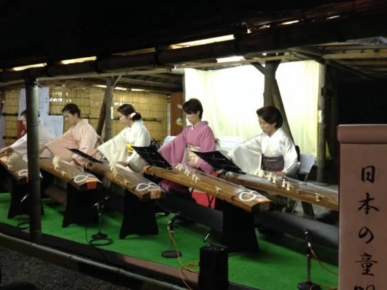 Koto Players at Mukojima Hyakkaen Noryo Matsuri