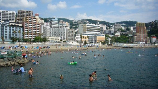 Every summer, Atami Sun Beach becomes a popular spot for the local beach-goers.