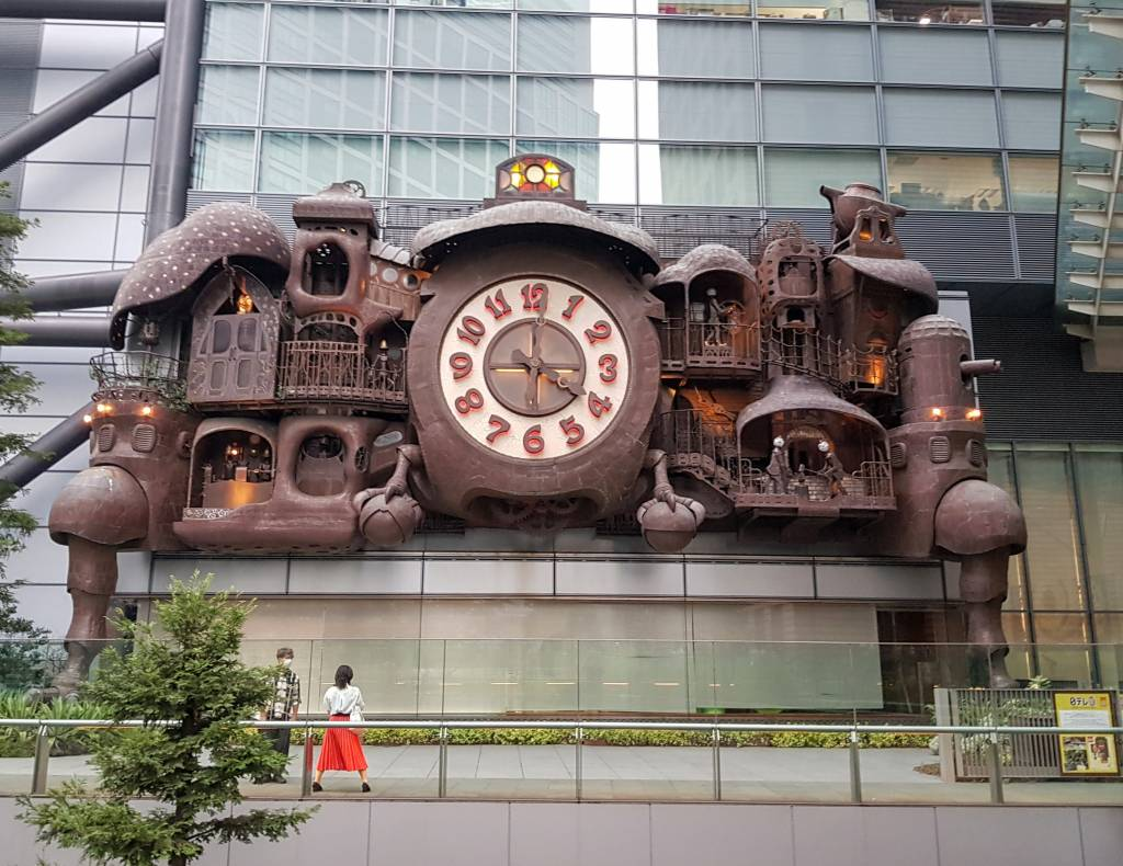 Giant Ghibli Clock at Nippon Television