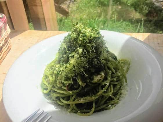 Ashitaba dish on Hachijojima itinerary