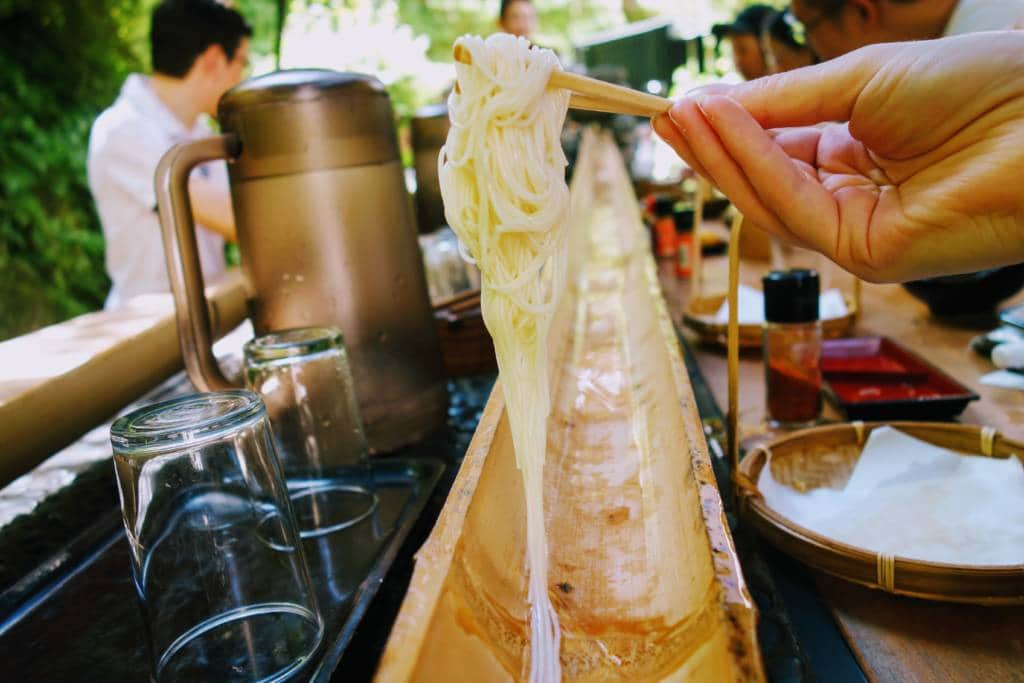 nagashi somen noodles in Tokyo