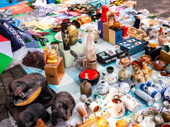 Shinjuku Chuo flea market Tokyo Japan