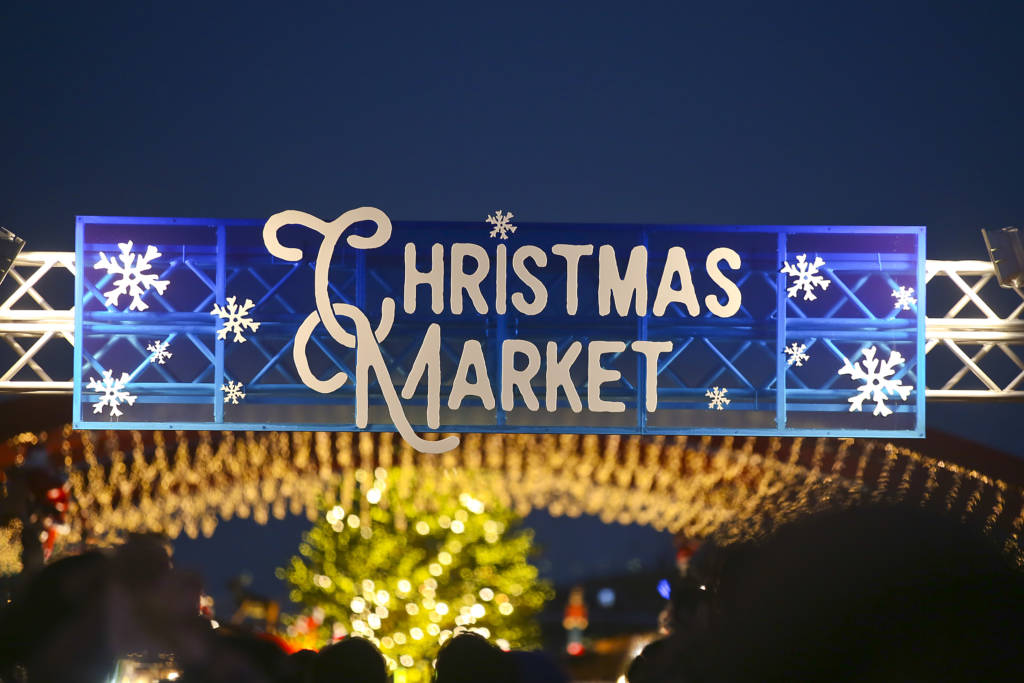 Christmas Market sign, Yokohama Japan