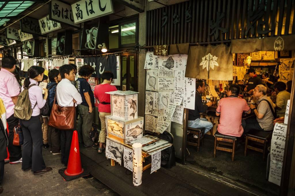 tsukiji fish market outer sushi